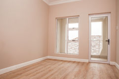 Empty Bedroom and Patio Royalty Free Stock Images