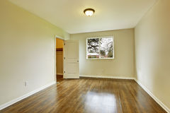 Empty bedroom with walk-in closet Royalty Free Stock Image
