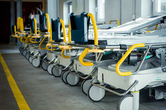 Empty beds in hospital Royalty Free Stock Images