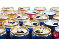 Empty beer aluminum cans. Clous up Royalty Free Stock Photo