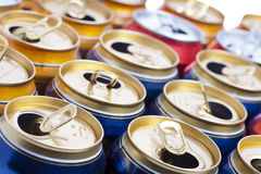 Empty beer aluminum cans Royalty Free Stock Photo