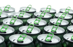 Empty beer aluminum cans. Clous up Stock Photography