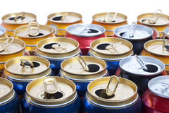Empty beer aluminum cans Stock Photography