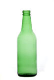 Empty beer bottle. Empty green beer bottle isolated on white background Stock Images