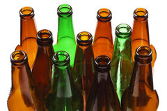 Empty beer bottle Stock Images