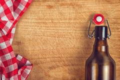 Empty Beer Bottle with Swing Flip Top Stopper Stock Photos