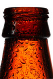 Empty beer bottle with water drops Royalty Free Stock Photography