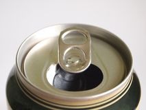 Empty beer can Stock Image
