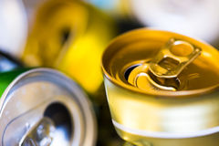 Empty beer cans Royalty Free Stock Photos