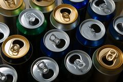 Empty beer cans Stock Images