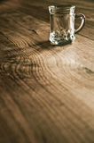 Empty Beer glass Stock Images
