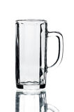 Empty beer glass isolated Royalty Free Stock Image