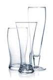 Empty beer glass set Stock Image