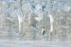 Empty Beer Glasses Royalty Free Stock Photos