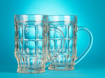 Empty beer glasses Royalty Free Stock Photography
