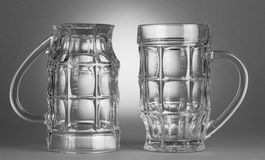 Empty beer glasses Stock Images