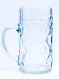 Empty beer goblet Royalty Free Stock Images