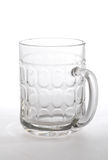 Empty beer mug. Isolated on white Royalty Free Stock Image