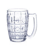 Empty beer mug glass isolated on white background Royalty Free Stock Photo
