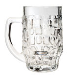 Empty beer mug, isolated, Stock Images