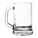 Empty beer mug isolated on white Stock Photo
