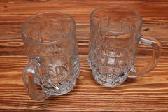 Empty beer mug on the table Royalty Free Stock Photography