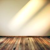 Empty Beige lines wall room. EPS 10. Empty Beige lines wall and wooden floor room. EPS 10 Royalty Free Stock Photography