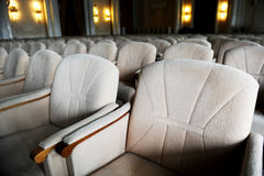 Empty beige velvet armchairs Royalty Free Stock Images