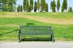 Empty bench. A empyt bench in a park Royalty Free Stock Photos
