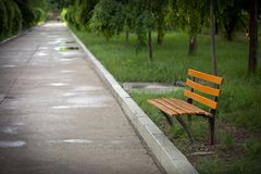 An empty bench Royalty Free Stock Photos