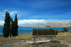 Empty bench stock photography