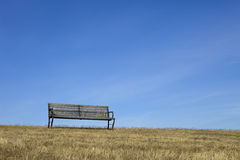 Empty Bench With Blue Sky Royalty Free Stock Image