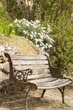 Empty bench in the countryside Stock Images