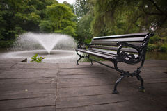 EMPTY BENCH Stock Photo