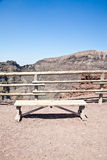 Bench in front Vesuvius crater Royalty Free Stock Photos