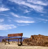 Empty bench on a hill Stock Image