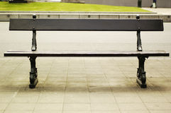 Empty bench ine the city Stock Photo