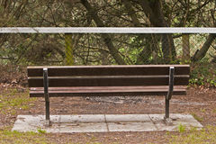 Empty bench, no view Stock Photo