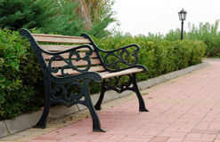 Empty Bench In Park Royalty Free Stock Image