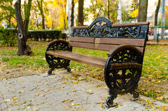 Empty bench in the park Stock Photography
