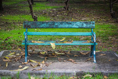 Empty Bench in the park. Stock Image