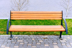 Empty bench in the park. Royalty Free Stock Photos