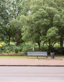 Empty Bench in Park Royalty Free Stock Photos