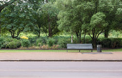 Empty Bench in Park Stock Photography