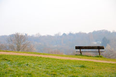 Empty bench on Parliament Hill Stock Photography