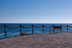 Empty bench in playa  blanca, lanzarote Royalty Free Stock Photo