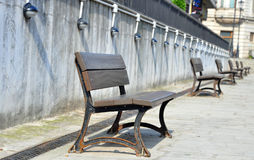 Empty benches Stock Photography