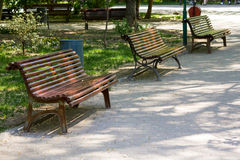 Empty benches Royalty Free Stock Photo