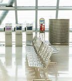 Empty benches at the airport Stock Image