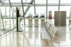 Empty benches at the airport Royalty Free Stock Image
